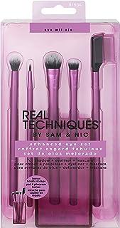 Real Techniques Enhanced Eye Set Eyeshadow & Eyeliner Makeup Brush Kit for Every Look