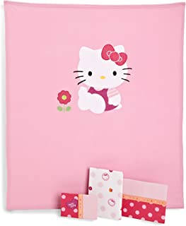 Lambs & Ivy 4 Piece Toddler Bedding Set, Hello Kitty Garden (Discontinued by Manufacturer)
