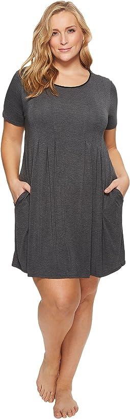 Donna Karan - Plus Size Modal Spandex Jersey Sleepshirt