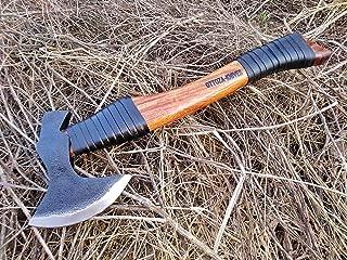 Ottoza Custom Handmade 15 inch Hand Axe Head 1095 Carbon Steel - Forest Axe - Survival Axe - Camping Axe - Chopping Axe - Buschcraft Axe - Wood Axe with Leather Axe Sheath No:185