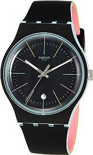 Essentials Quartz Silicone Strap, Black, 20 Casual Watch (Model: SUOS402)