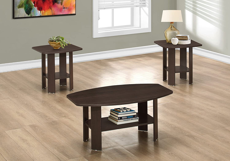Monarch Specialties I 7924P Table Set, Cappuccino