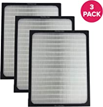 Think Crucial 3 Replacements for Blueair Deluxe 200/300 Series Air Purifier Filter W/Built-in Odor Neutralizing Particle Pre-Filter, Fits All 200 & 300 Series Air Purifiers