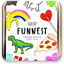 Tattly Temporary Tattoos, The Funnest Tattly Pack, 0.26 Ounce