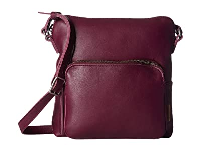 ECCO Casper Crossbody (Aubergine) Cross Body Handbags