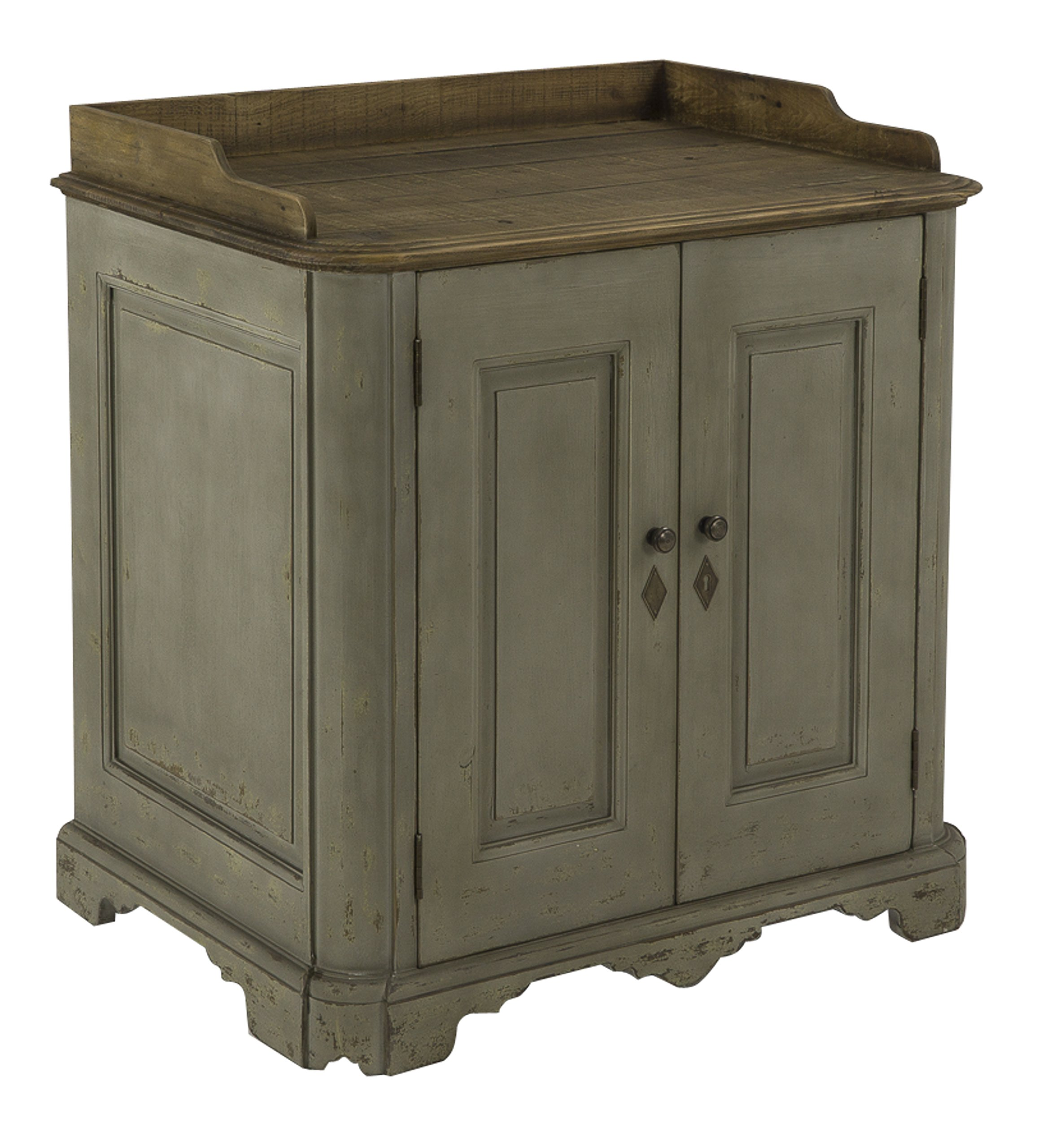 MyGift Rustic Wood Kitchen /& Bathroom Countertop Cabinet w//Glass Windows