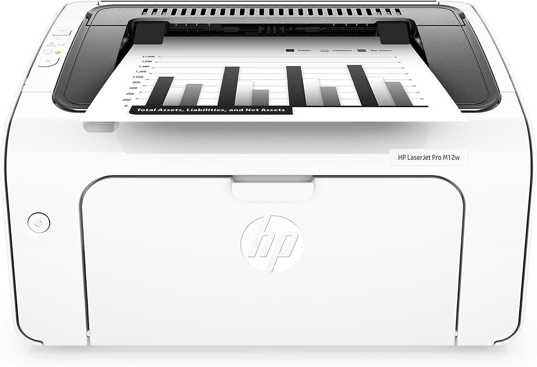 HP Laserjet Pro M12w Wireless Laser Printer, Amazon Dash Replenishment Ready (T0L46A)