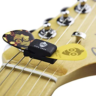 Pick Geek Wedgie Pick Holder Set - 6 x Wedgie Pick Holders - Fits Electric, Acoustic and Bass Guitars - Gifted in a Unique Pick Geek Linen Plectrum Bag - Includes a FREE Pick Geek Steel Pick