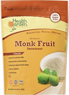 Monk Fruit Sugar Free Sweetener Classic - All Natural, Non GMO, Zero Glycemic Index, No Calories & No Carbs, 3 lbs. -