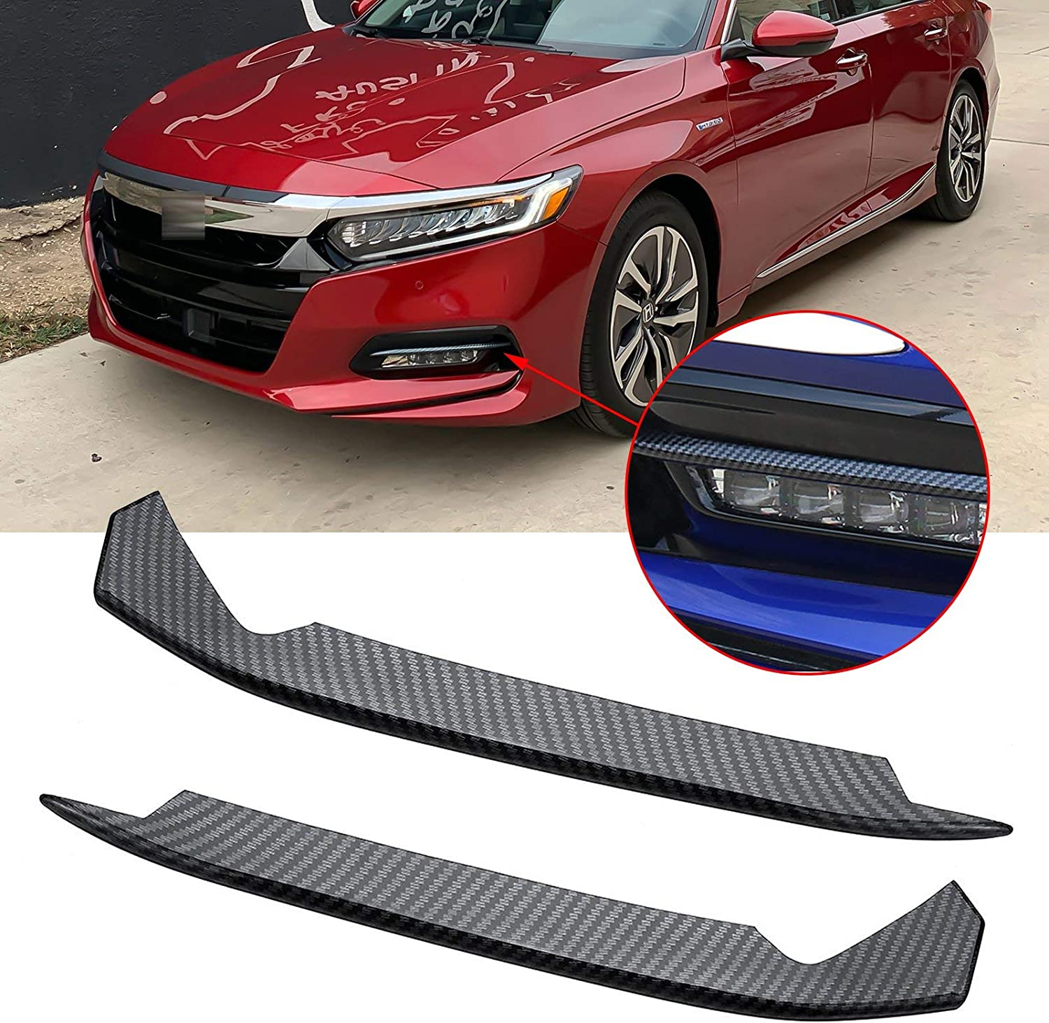 Xotic Tech Carbon Fiber Texture Dashboard Air Vent AC Outlet Frame Overlay Trim Decor Cover for Honda Accord 2018 2019 2020