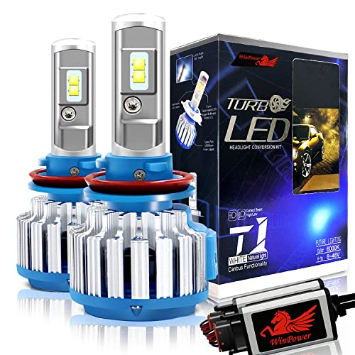 Win Power H11 LED Headlight Bulb Conversion Kit H8 H9 CREE 70W 7,200Lm 6000K Cool