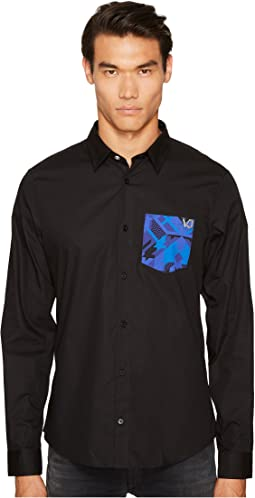Versace Jeans Printed Pocket Button Down