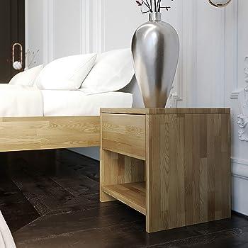 Nordicstore Nachttisch Fjord Massivholz Eiche Moderner Tisch Mit 2 Schubladen Nordischer Stil Originelles Design 57 X 45 X 47 Cm Amazon De Kuche Haushalt