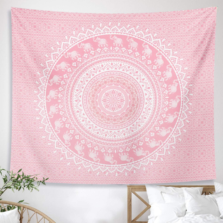 DESIHOM Sales Pink National products Mandala Tapestry Boho Bohemian Cute Ombre