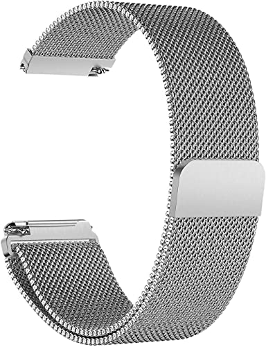 House of Quirk Watch Strap for fit bit Versa Stainless Steel Replacement Silver Band
