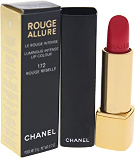Chanel Rouge Allure Luminous Intense Lip Colour No. 172 Rouge Rebelle for Women, 0.12 Ounce