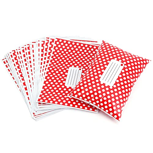 """50 Pink Polka Dots 13/"""" x 19/"""" Mailing Postage Postal Mail Bags"""
