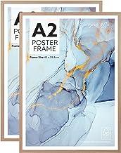 Cooper & Co. Homewares A2 Poster Photo Frames Set of 2, Oak