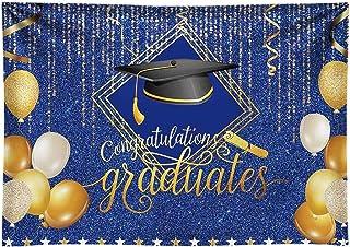 CSFOTO 12x8ft Graduation Backdrop Graduation Ceremony Backdrop for Photography School Prom Decor Banner Congratulations Graduates Graduation Cap Balloons Halo Students Portrait