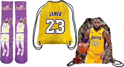 Forever Fanatics James 23 Ultimate Basketball Fan Gift Set Bundle ✓ James 23 Stiched Crew Socks Sizes 6-13 ✓ James 23 Pict...