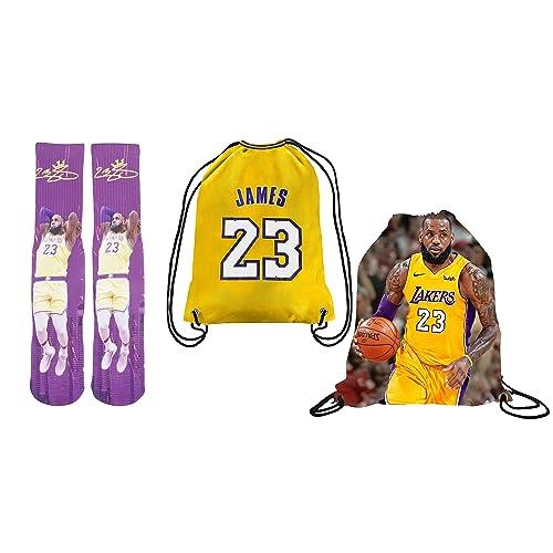 14bf1d57d41f Forever Fanatics James 23 Ultimate Basketball Fan Gift Set Bundle ✓ James 23  Stiched Crew Socks