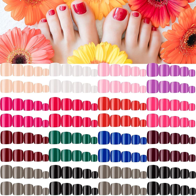 336 Pieces 14 Sets Short Square 25% OFF Nails 2021 Toe Artific Colorful False
