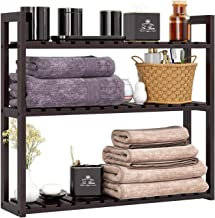 HOMFA Bamboo Bathroom Shelf 3-Tier Multifunctional Adjustable Layer Rack Wall Mounted Utility Storage Organizer Bathroom K...