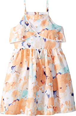 Sleeveless Watercolor Floral Dress (Toddler/Little Kids/Big Kids)