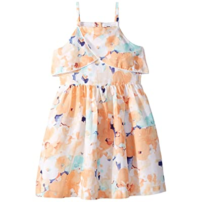 Janie and Jack Sleeveless Watercolor Floral Dress (Toddler/Little Kids/Big Kids) (Multicolor) Girl