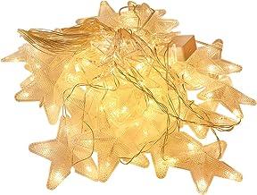 ABOOFAN Twinkle Star LED-gardin ljus stjärna ljuskedjor dekorativa ljuskedjor ljuskedjor för alla hjärtans dag bröllopsfes...