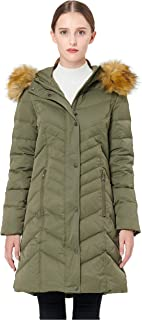 Orolay Women's Thickened Mid-Long Down Jacket with Hood