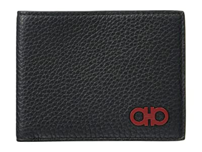 Salvatore Ferragamo Firenze Glow Bifold Wallet 66A073 (Black) Handbags