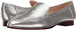 Silver Crackle Metallic Nappa