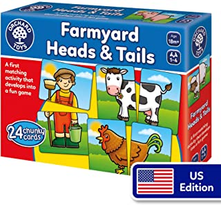 Orchard Toys Farmyard Heads and Tails Game, Colorful and Fun Matching Game for Younger Players - Perfect for Home Learning
