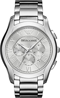 Emporio Armani Men's Dress Watch Quartz Stainless-Steel Strap, Silver, 23 (Model: AR11081)