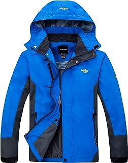 Wantdo Men's Hooded Lightweight Windproof Waterproof Breathable Rain Jacket