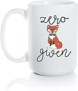 Zero Fox Given Ceramic Coffee Mug - Large 15oz Coffee Cup - Fox and Clover Original