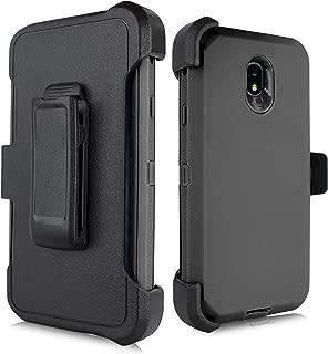 for Samsung Galaxy J7 2018 / J7 Refine / J7V 2nd Gen / J7 Star / J7 Top Case, Heavy Duty Defender Case, Belt Clip Holster w/ [Built-in Screen Protector] Shockproof Drop-Proof Cover (Black)