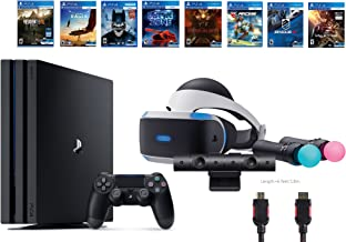 PlayStation VR Deluxe Bundle 12 Items:VR Start Bundle,PS4 Pro 1TB,8 VR Game Disc Rush of Blood,Valkyrie,Battlezone,Batman,DriveClub,Eagle, RIGS,Resident Evil 7:Biohazard