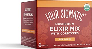 Four Sigmatic, Mix Elixir Cordyceps Organic Box 20 Count, 2 Ounce