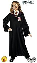 Harry Potter Gryffindor Robe Child Costume, Large, Black