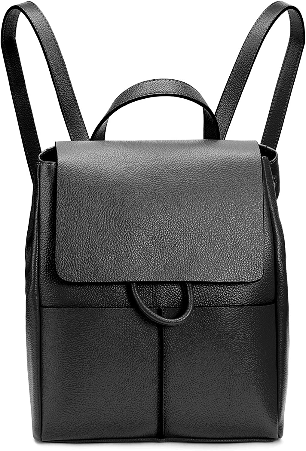 Intrinsic Vegan Leather Fashion Small Drawstring Backpack Purse for Women Casual, Black, Free