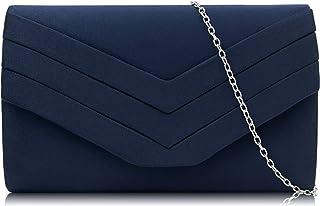 Milisente Abendtasche für Damen, Wildleder-Umschlag, Abend-Geldbörsen, Crossbody-Schulter-Clutch