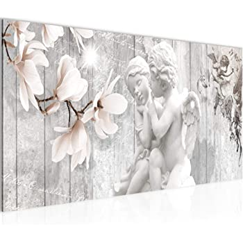 B/&D XXL murando Impression sur Toile intissee 100x50 cm 5 Pieces Tableau Tableaux Decoration Murale Photo Image Artistique Photographie Graphique Ange cru b-C-0051-b-m