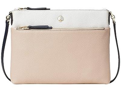 Kate Spade New York Polly Medium Crossbody (Blush Multi) Handbags