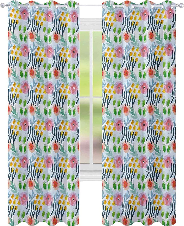 Room Darkening Window Curtains Modern Limited price Flowers Wa Brushstroke discount in