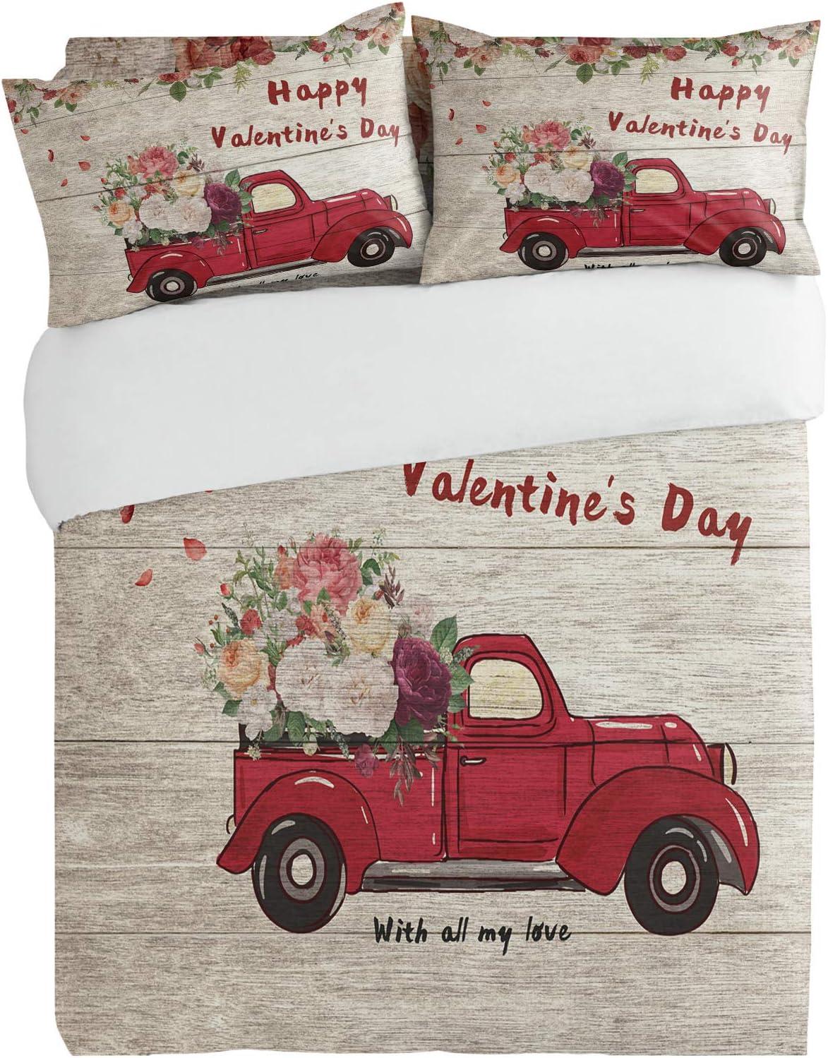 SUN-Shine 3PiecesBeddingDuvetCoverSet Now free shipping Romantic Ros Blooming High material