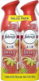 Febreze Air Odor-Eliminating Air Freshener, Berry & Bramble, 2 Ct, 8.8 Fl Oz Each (17.8 Fl oz Total)