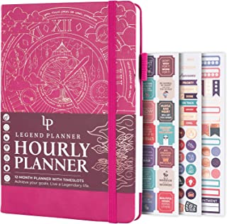 $24 » Legend Planner Hourly Schedule Edition - Deluxe Weekly & Daily Organizer with Time Slots. Time Management Appointment Book...