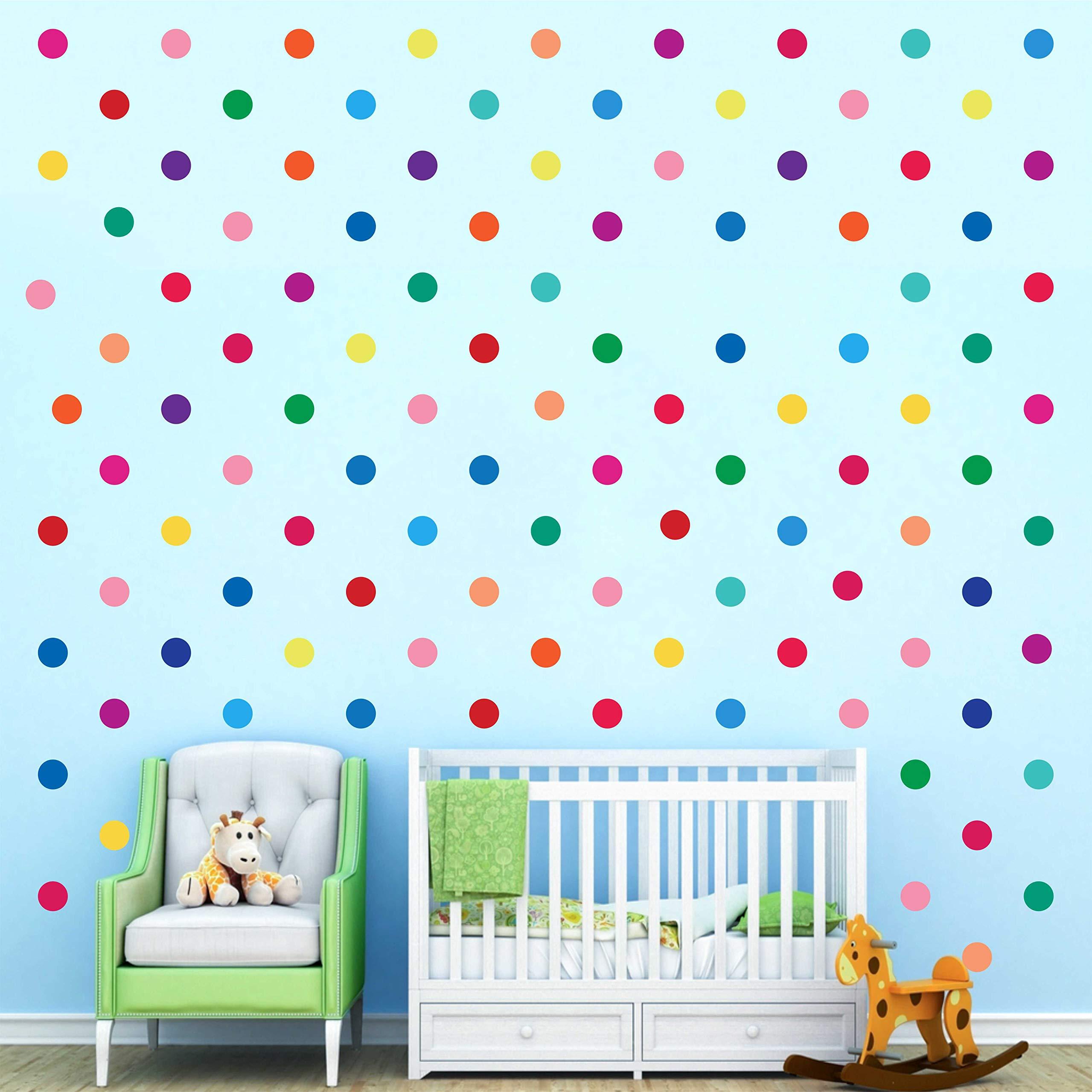 240 Decals Polka Dot Decor Rainbow Colors Polka Dot Wall Decor Circle Spot Wall Sticker Primary Colors Polka Dots Decals Kids Wall Decals Classroom Wall Decals Playroom Wall Decor